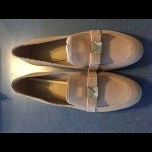 Michael Kors Shoes - Michael Kors Caroline suede loafer-bisque 7 1/2
